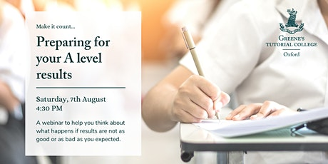 Make it count - preparing for your A level results tickets