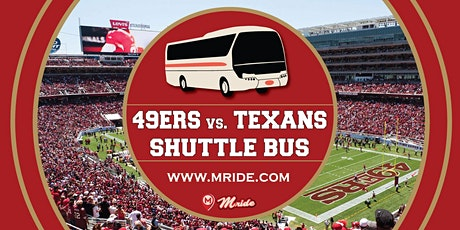 Niners vs. Texans Levi's Stadium Shuttle Bus - MILL VALLEY DEPARTURE tickets