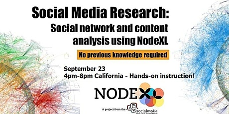 Introduction to NodeXL - social media network analysis with a few clicks tickets