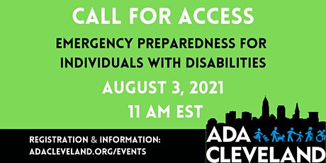 Emergency Preparedness for Individuals with Disabilities tickets