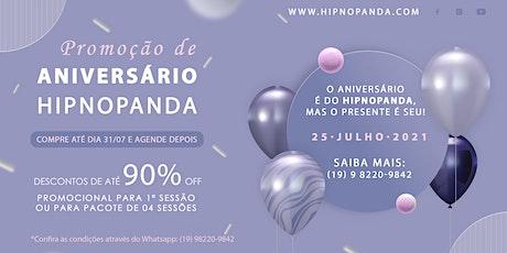 Hipnoterapia Online Pacote Promocional de Aniversário Hipnopanda ingressos