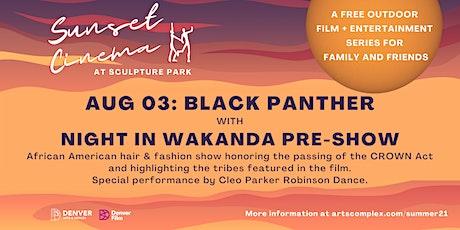 Sunset Cinema: Black Panther tickets