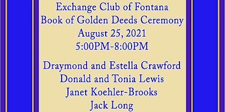 Exchange Club of Fontana Book of Golden Deeds  Dinner Ceremony tickets