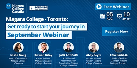 Niagara College - Toronto: Get ready to start your journey in September tickets