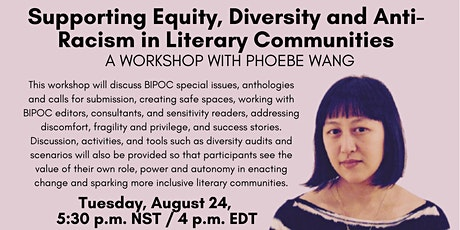 Supporting Equity, Diversity and Anti-Racism in Literary Communities tickets