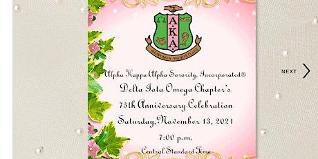 Alpha Kappa Alpha Sorority®,  Delta Iota Omega Chapter's 75th Anniversary Tickets
