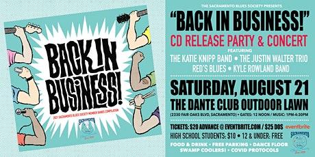"""Sacramento Blues Society's """"Back in Business!"""" CD Release Party & Concert tickets"""