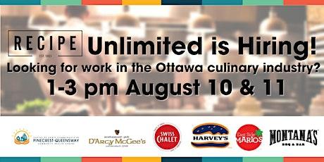 Ottawa Restaurant Virtual Job Fair 2021 ingressos
