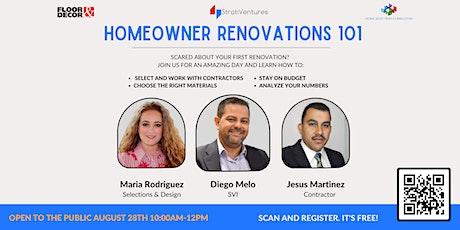 Homeowner Renovation 101 tickets