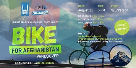 Vancouver | Bike Ride for Afghanistan tickets