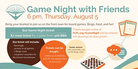 Game Night with Friends Fundraiser tickets
