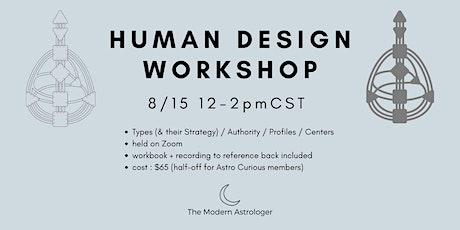 Human Design Workshop bilhetes