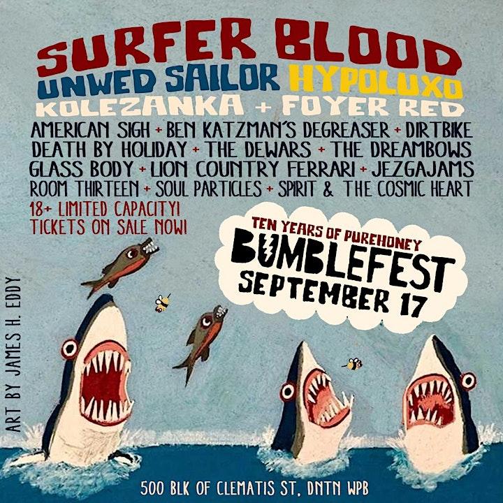BUMBLEFEST '21: SURFER BLOOD, UNWED SAILOR, HYPOLUXO + MORE! image