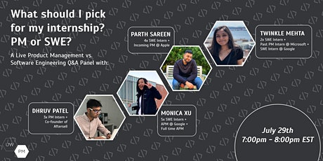 What should I pick for my internship? PM or SWE? tickets