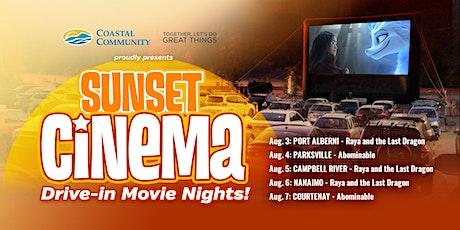 CCCU: Sunset Cinema (Drive In): Raya and Last Dragon 08/03 - PORT ALBERNI tickets