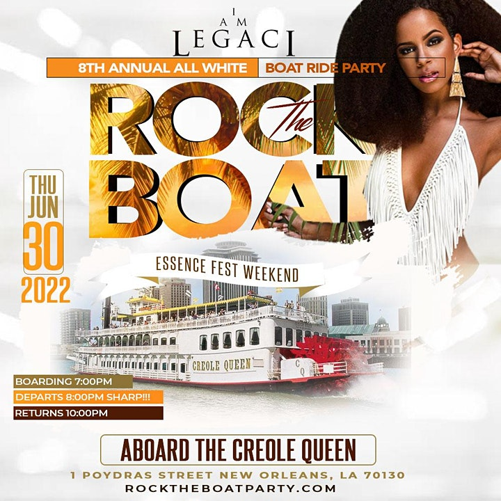 ROCK THE BOAT THE ALL WHITE BOAT RIDE PARTY   ESSENCE MUSIC FESTIVAL 2022 image