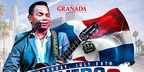 Joe Veras Bachata Concert  Thursday, July 29, 2021 @ The Granada LA tickets