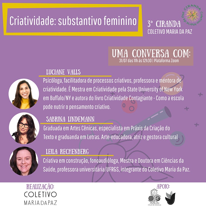 Imagem do evento Criatividade: substantivo feminino