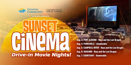 CCCU: Sunset Cinema (Drive In): Raya Last Dragon (08/05) - CAMPBELL RIVER tickets
