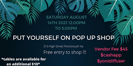 Put Yourself On Pop up Shop tickets