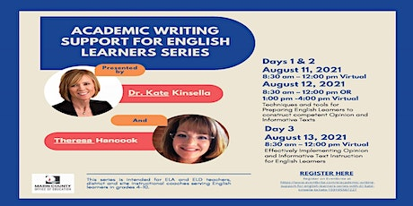 Academic Writing Support for English Learners Series with Dr. Kate Kinsella tickets