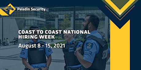 Paladin Security: Coast to Coast National Hiring Week tickets