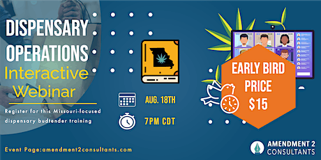 Missouri Becoming a Budtender Webinar—Dispensary Operations Aug. 18th tickets