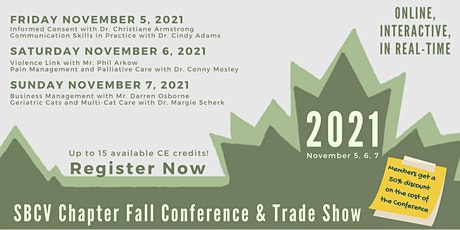 CVMA-SBCV Chapter 2021 Fall  Conference & Trade Show LIVE ONLINE tickets