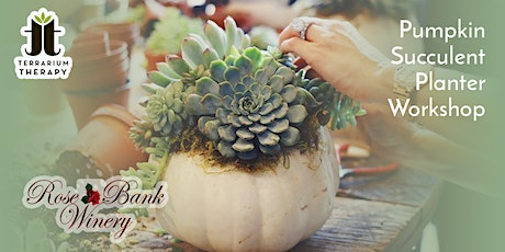 In-Person Pumpkin Succulent Workshop at Rose Bank Winery tickets
