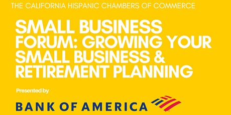 Small Business Forum: Growing your Small Business & Retirement Planning tickets