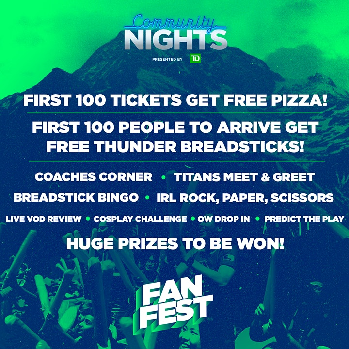Vancouver Titans | Community Nights Presented by TD: Fan Fest image