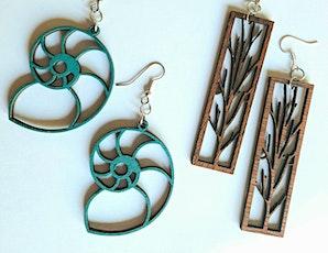 Wood Earrings - Laser Cutter & Jewelry Making Basics tickets