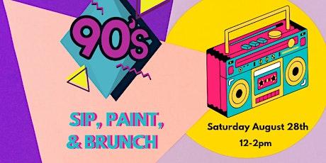 90's Sip & Paint Brunch tickets