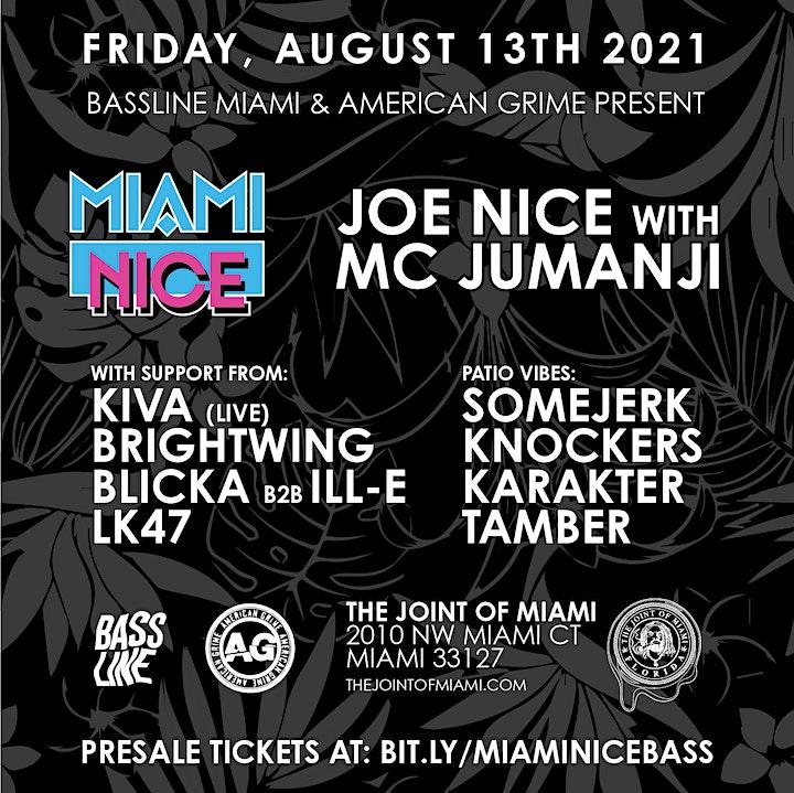 Miami Nice: Joe Nice with MC Jumanji plus Kiva, SomeJerk & More image