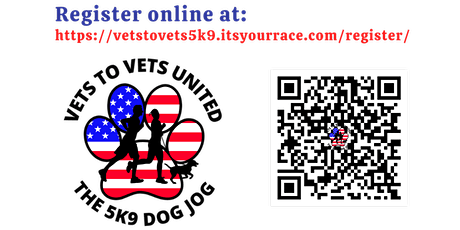 """"""" The 5K9 Dog Jog""""  - Sponsored by Vets To Vets United, Inc. tickets"""