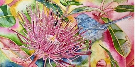 The Friday Gallery Watercolour painting online class: Eucalyptus Flowers tickets