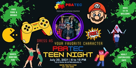 PBATEC Teen Night: Dress As Your Favorite Character Party! tickets