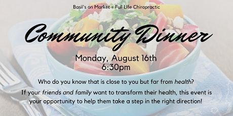 August Community Dinner tickets