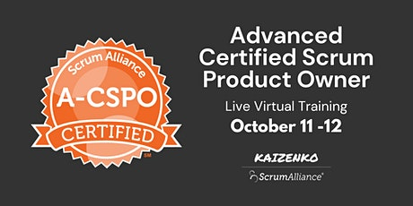 Advanced Certified Scrum Product Owner (A-CSPO) tickets