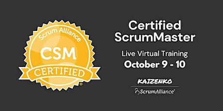 Live Online Certified Scrum Master Certification (CSM) tickets