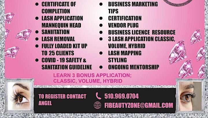 LA Fabillusion Beauty  Eyelash Extension Workshop+Business Branding image