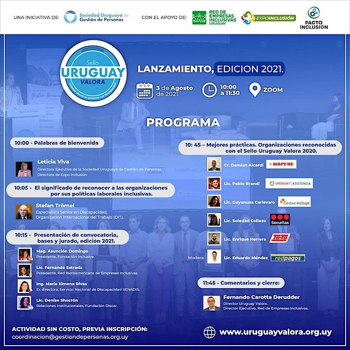 Imagen de Lanzamiento edición 2021: Sello Inclusivo Uruguay Valora