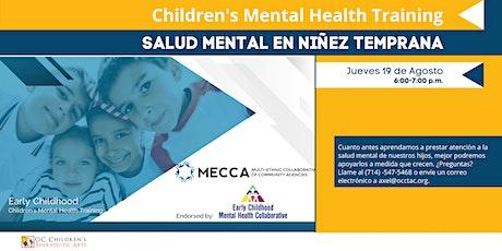 Salud Mental en Niñez Temprana entradas