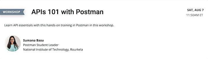 Postman Student Summit 2021 image