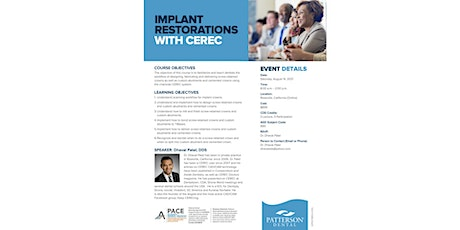 Implant  Restorations  with CEREC tickets