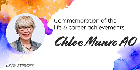 Chloe Munro AO - life and career achievements [LIVE STREAM] tickets