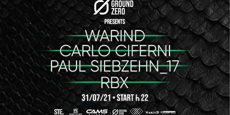 WarinD - Hard Boiled SATURDAY - 31-07 - Ground_Zero_Club biglietti