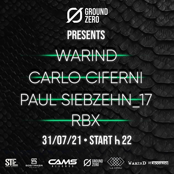 Immagine WarinD - Hard Boiled SATURDAY - 31-07 - Ground_Zero_Club
