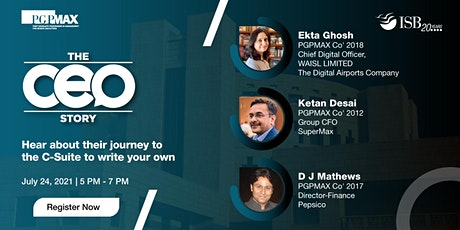 The CEO Story (ISB-PGPMAX) tickets