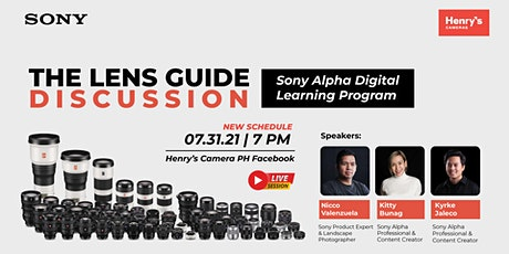 THE LENS GUIDE DISCUSSION by Sony Philippines tickets